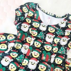 Justice ⚜️ Christmas Emoji Girls Dress
